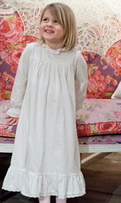 Image of young girl wearing nightgown