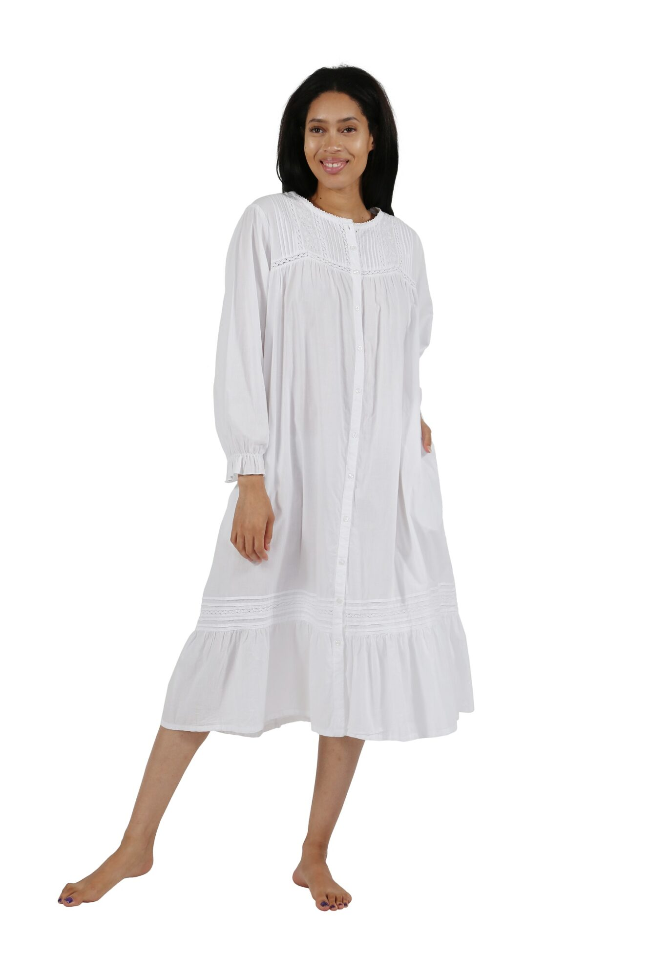 Cotton Long Sleeve Robe