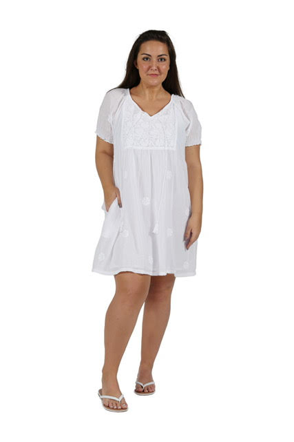 photo of LACERA WHITE Short Sleeve CHEMISE